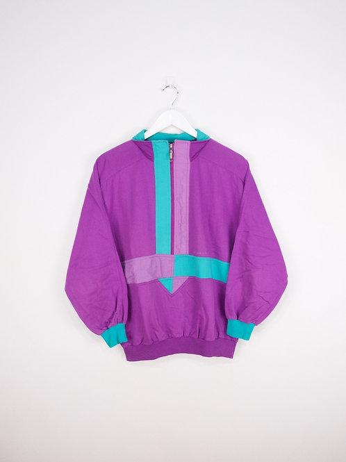 Sweat Mid-Zip Vintage 80's Violet - S
