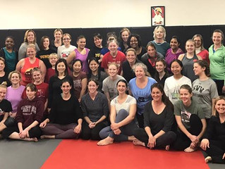 Great Women's self defense clinic