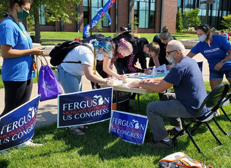 Team Ferguson helping students with new easier ways to register to vote