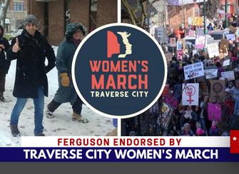 Ferguson endorsed by Women's March TC
