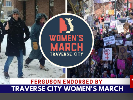 Ferguson endorsed by Women's March TC