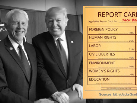 Have you seen Jack Bergman's legislative report card?