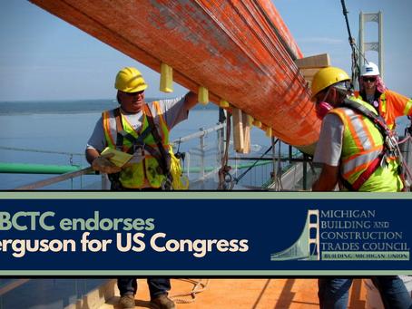 Organization representing 100K Michigan union workers endorses Ferguson for US Congress