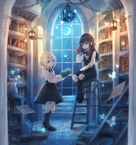 魔術書管理館の二人