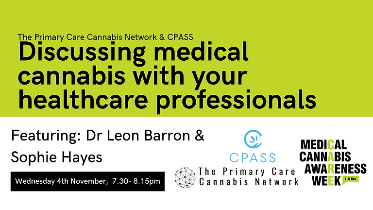 #MCAW2020: Discussing medical cannabis with your healthcare professionals