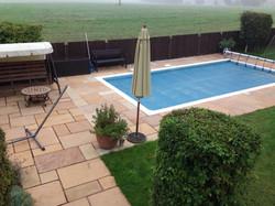 Natural sandstone around pool