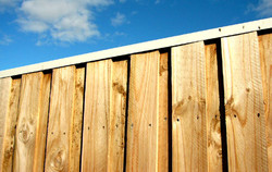 Lap and Cap Treated Pine Fence