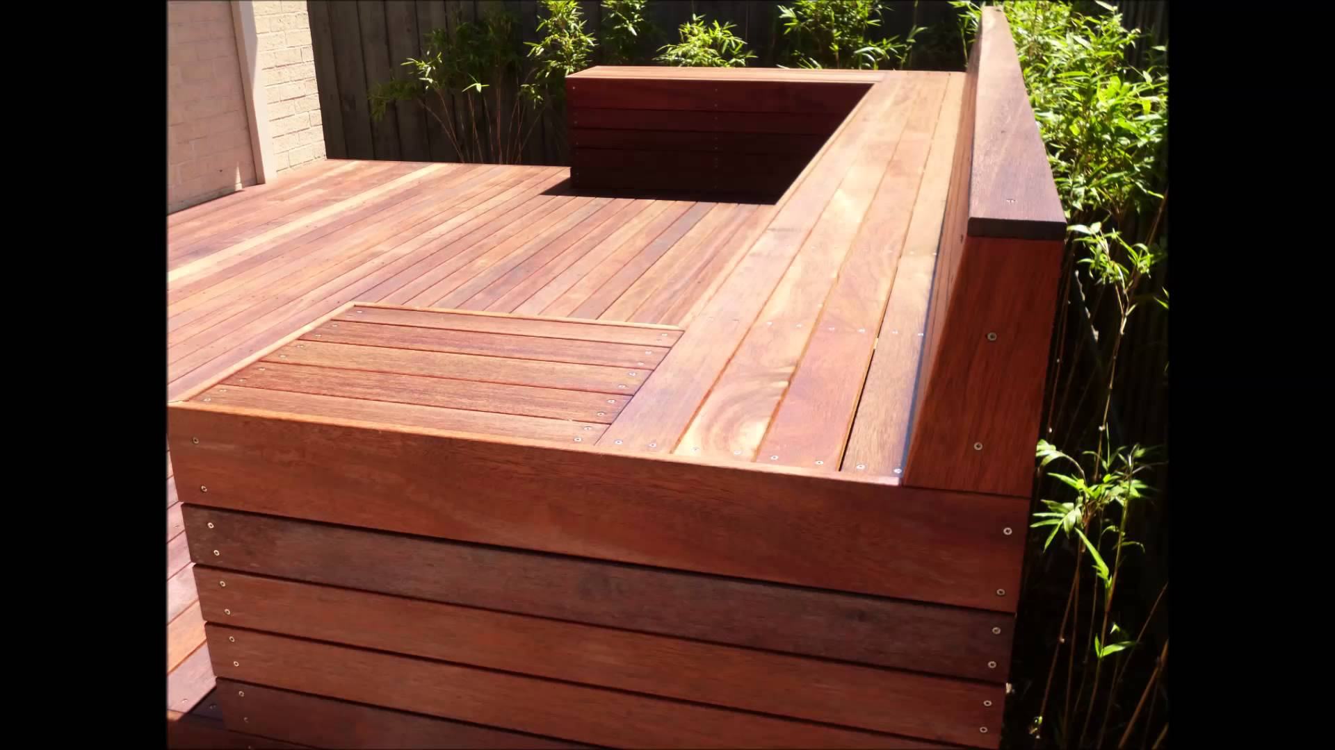 Merbau Decking Seat