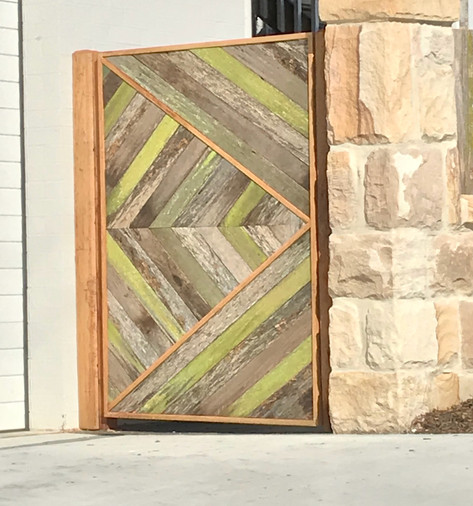 Reclaimed Hardwood/Blackbutt gate.