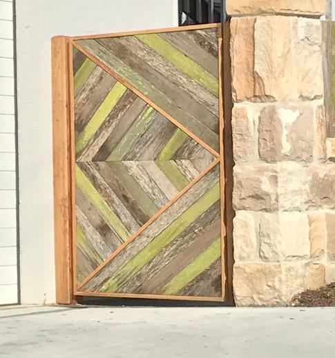 Reclaimed Hardwood/Blackbutt gate.
