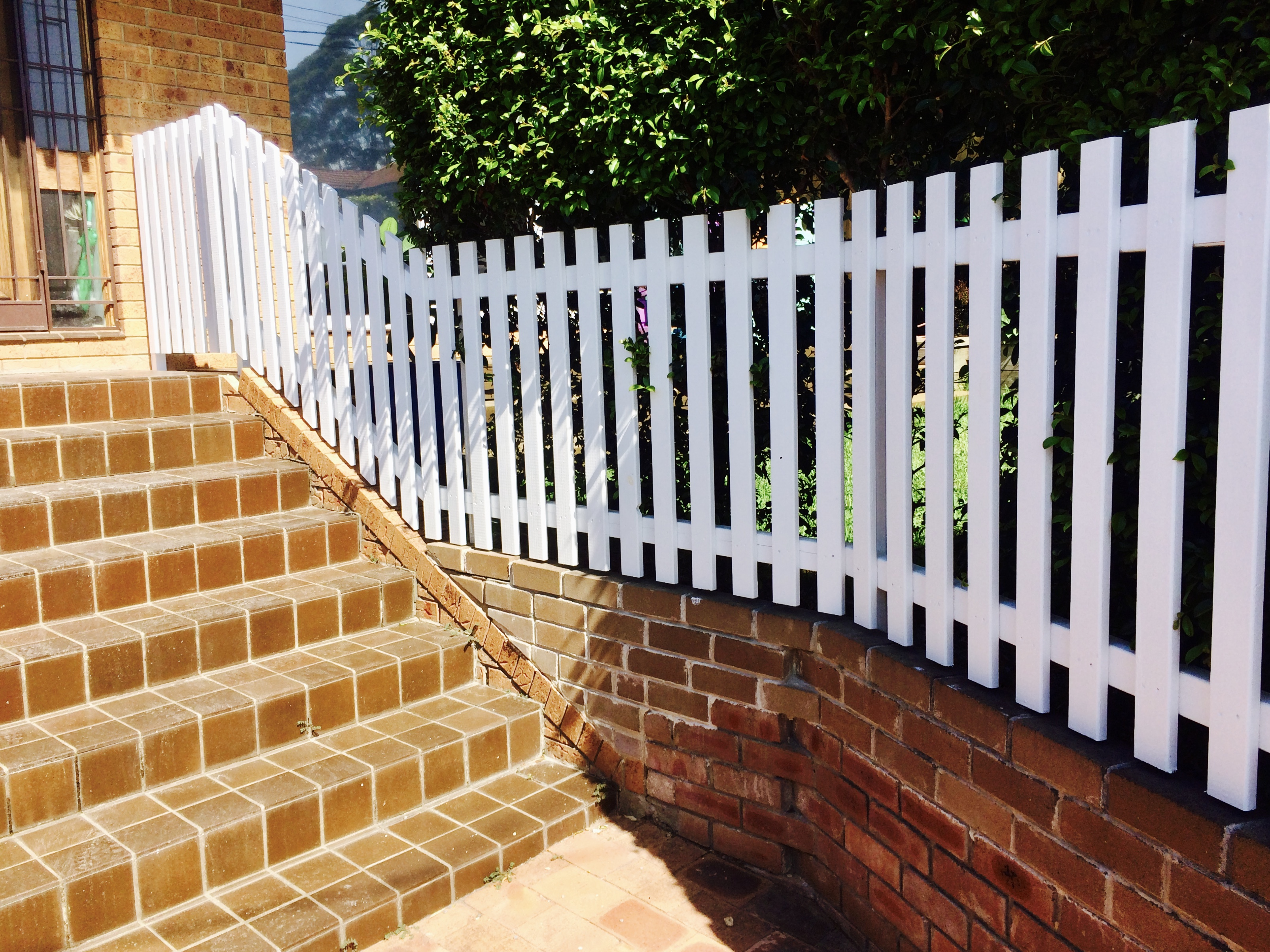 Picket Fence with Square top.