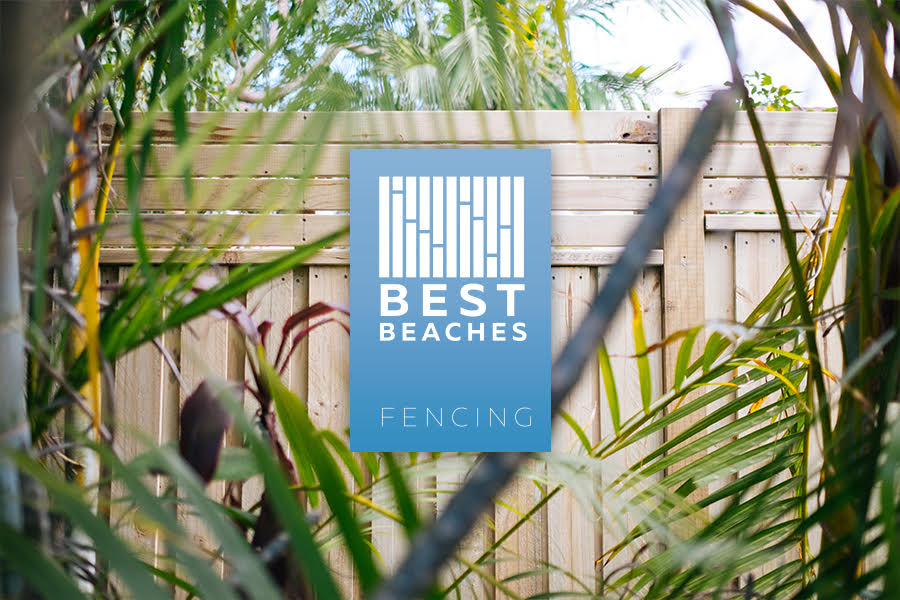 Best Beaches Fencing Logo with view