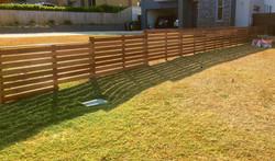 Horitontal Slat Fence