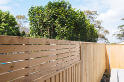 Lap n Cap fence with privacy screen