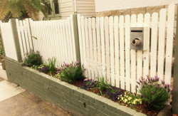 Picket Fence with round top.