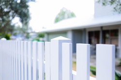 Square top picket fence