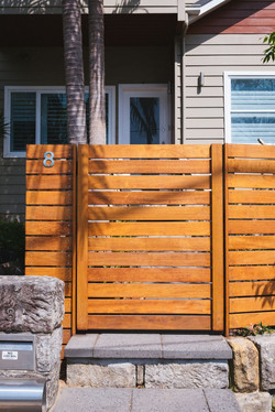 Merbau horizontal slat fence