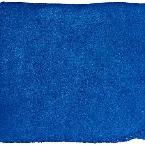 "50""X60"" Whipstitch Fleece Blanket - Royal Blue"