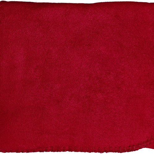 "50""X60"" Whipstitch Fleece Blanket - Maroon"