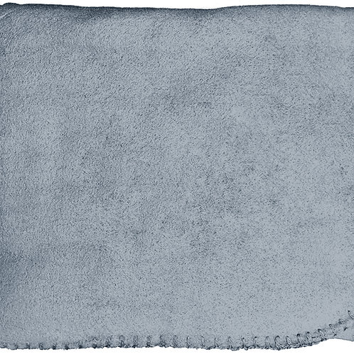 "50""X60"" Whipstitch Fleece Blanket - Gray"