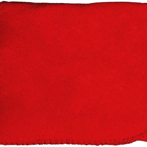 """50""""X60"""" Whipstitch Fleece Blanket - Red"""