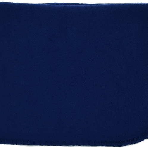 "50""X60"" Whipstitch Fleece Blanket - Navy Blue"