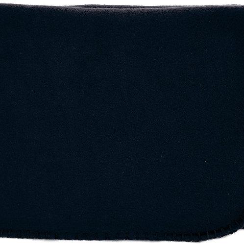 """50""""X60"""" Whipstitch Fleece Blanket - Black"""