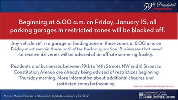Inauguration Street Closures