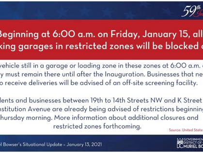 Inauguration Street Closures