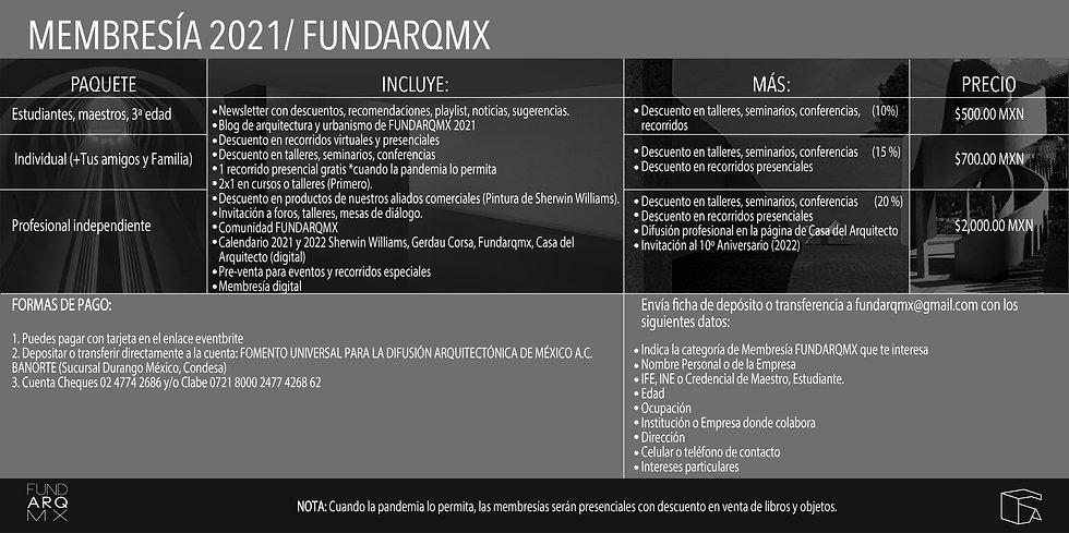 CARTEL MEMBRESIÌ AS FUNDARQMX (INFORMACI