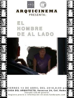 CARTEL EL HOMBRE DE AL LADO-13ABR18