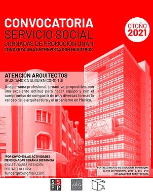 CONVOCATORIA A SERVICIO SOCIAL_Mesa de t