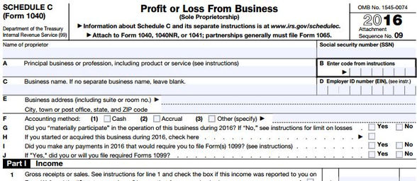 Schedule C Form Form  Schedule C Fillable Profit Or Loss From