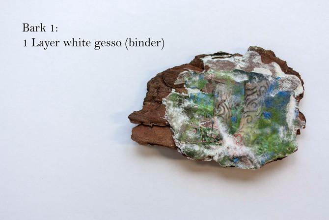 MFA Image Transfer: rocks, bark, and A4 canvas