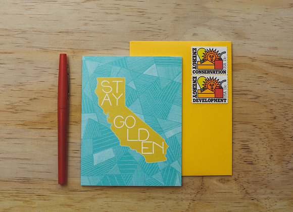 Stay Golden California greeting card