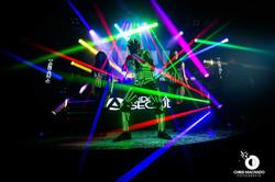 robo de led no palco