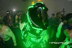 close up no robo de led