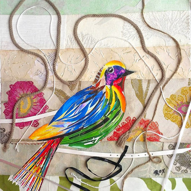 """Bird 1"" collage by Roxana Rojas-Luzon"