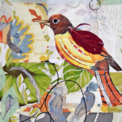 """Bird 2"" collage by Roxana Rojas-Luzon"