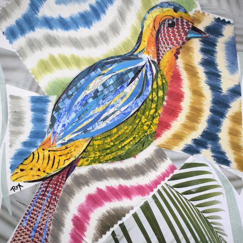 """Bird 4"" collage by Roxana Rojas-Luzon"