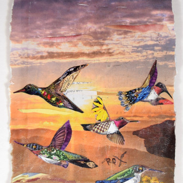 """Goodbye Birds"" collage by Roxana Rojas-Luzon"