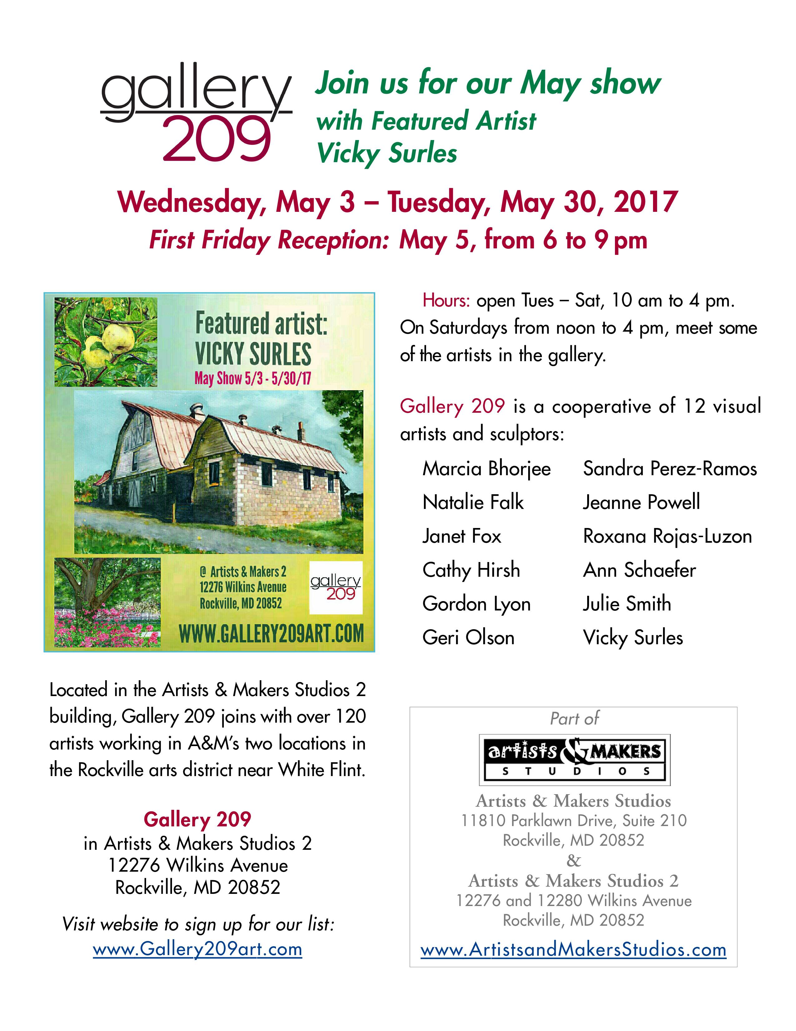 Gallery209- May 2017 Show