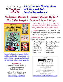 Gallery 209 Show Oct. 2017