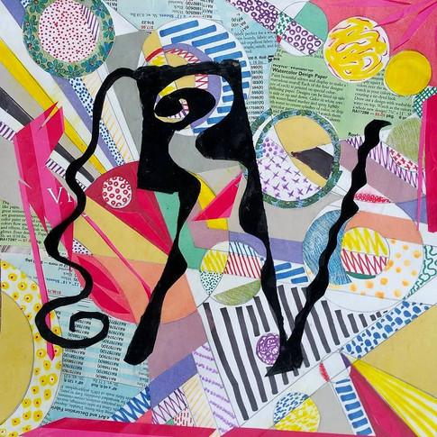 """Maze"" by Roxana Rojas-Luzon collage"