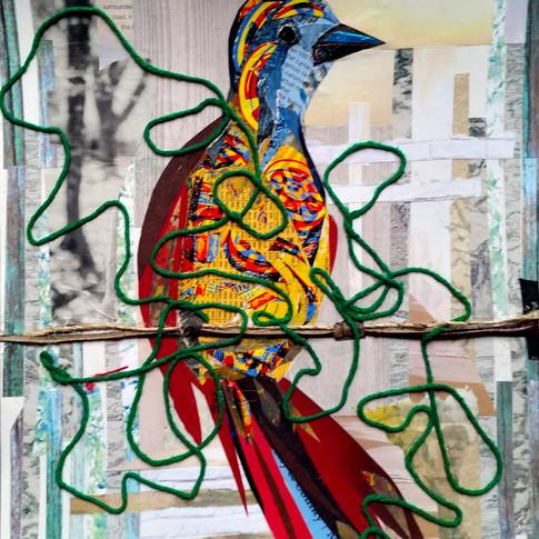 """Bird 7"" collage by Roxana Rojas-Luzon"