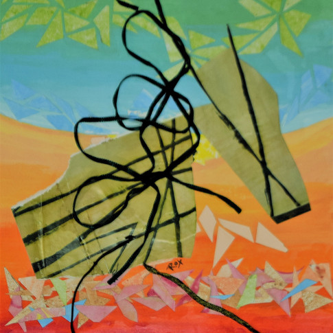 """Don Quixote"" by Roxana Rojas-Luzon collage"
