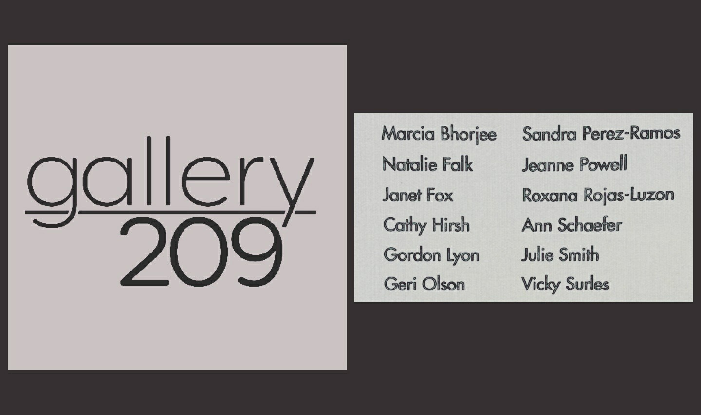 Gallery 209- The 12 Artists