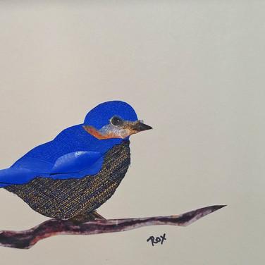 """Blue Bird "" collage by Roxana Rojas-Luzon"