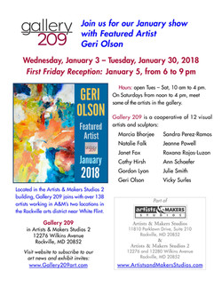 Gallery 209 Show Jan. 2018