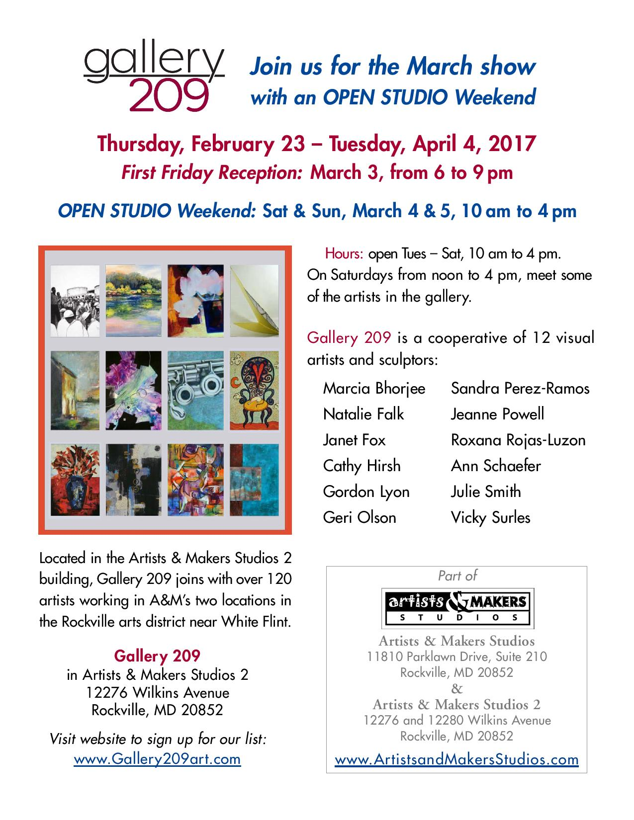 Gallery 209 March Show
